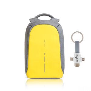 """Městský bezpečnostní  batoh, Bobby Compact, 14"""", XD Design, žlutý"""