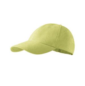 Adler 6P dětská kšiltovka, bledě-zelená, 380g/m2