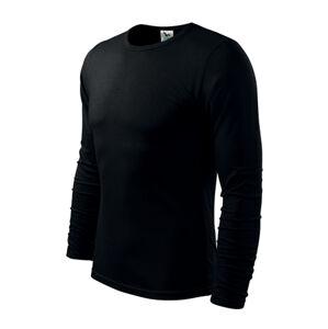Adler Fit-T tričko s dlouhým rukávem, černé, 160g / m2 - M