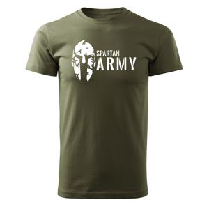 WARAGOD krátké tričko spartan army, olivová 160g/m2 - XS