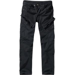 Brandit Adven Slim fit kalhoty, černé - M