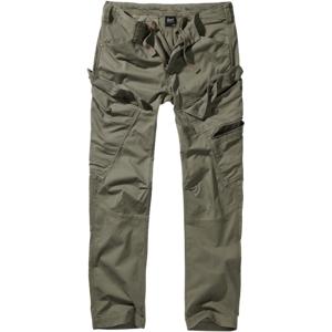 Brandit Adven Slim fit kalhoty, olivové - L