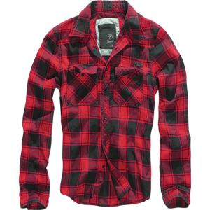 Brandit Checkshirt košile, červeno černá - S
