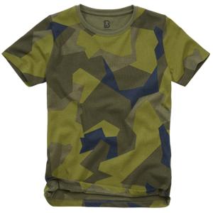 Brandit dětské tričko s krátkým rukávem, swedish camo - 122/128