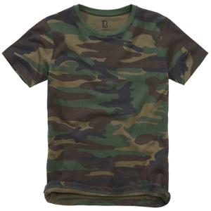 Brandit dětské tričko s krátkým rukávem, woodland - 134/140