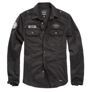 Brandit Luis Vintage košile, Černá - 4XL