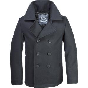 Brandit Pea Coat pánský kabát, černý - 5XL
