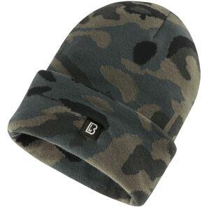 Brandit Rack prodloužená pletená čepice, darkcamo