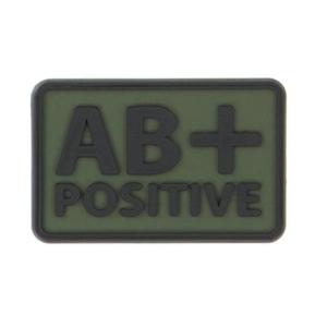 Helikon-Tex 3D PVC nášivka AB+ Positive, set 2ks olive green