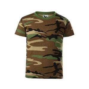 Malfini Dětské krátké tričko, maskáčová - 4roky/110cm