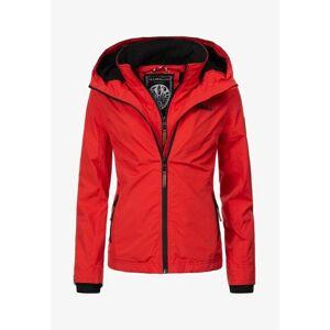 Marikoo ERDBEERE Dámska prechodná bunda s kapucňou, červená - XS