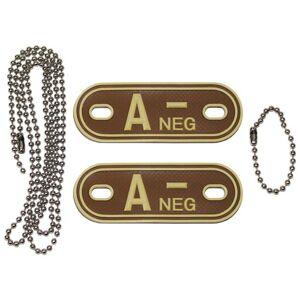 MFH Dog-Tags psí štítky  A NEG, 3D PVC