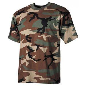 MFH maskáčové tričko vzor woodland, 160g/m2 - 4XL
