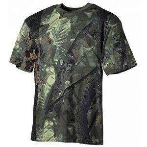 MFH tričko real tree vzor hunter-grün, 170g/m² - 4XL