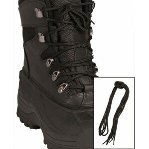 Mil-Tec Pe tkaničky do bot, černé 140cm