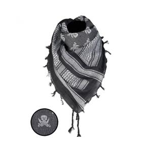 Mil-tec Skull arafatka bílo - černá, 110 x 110cm