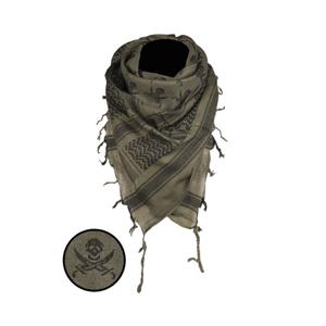 Mil-tec Skull arafatka olivovo - čierná, 110 x 110cm