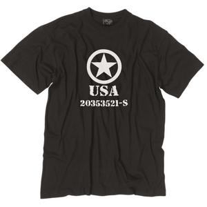 Mil-Tec tričko allied star černé, 145g/m2 - S