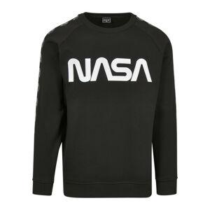 NASA Wormlogo Rocket pánská mikina, černá - M