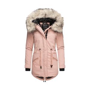 Navahoo LadyLike dámska zimná bunda s kapucňou a kožušinou, rose - XS