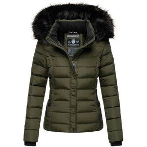 Navahoo Miamor dámska zimná bunda s kapucňou, olivová - XS