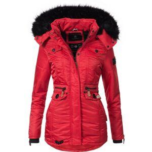 Navahoo SCHATZCHEN Dámska zimná bunda s kapucňou, červená - XS
