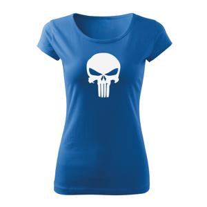WARAGOD dámské krátké tričko punisher, modrá 150g/m2 - XS