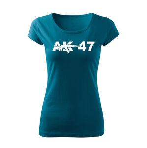 WARAGOD dámské tričko ak47, petrol blue  150g/m2 - XS