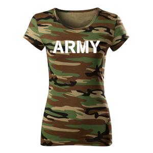 WARAGOD dámské krátké tričko army, maskáčová 150g/m2 - XL