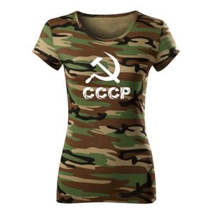 WARAGOD dámské krátké tričko cccp, maskáčová 150g/m2 - L