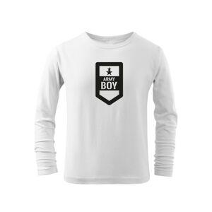 WARAGOD Dětské dlhé tričko Army boy, bílá - 6let/122cm