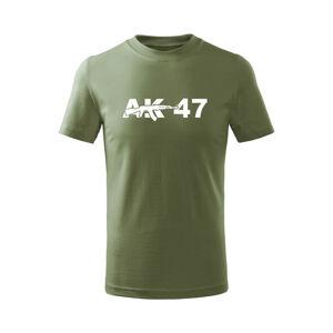 WARAGOD Dětské krátké tričko AK47, olivová - 8let/134cm