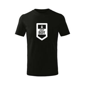 WARAGOD Dětské krátké tričko Army boy, černá - 12let/158cm