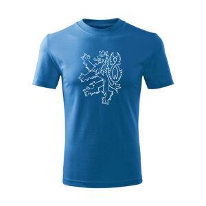 WARAGOD Dětské krátké tričko Český lev, modrá - 10let/146cm