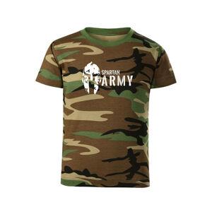 WARAGOD Dětské krátké tričko Spartan army, maskáčová - 10let/146cm