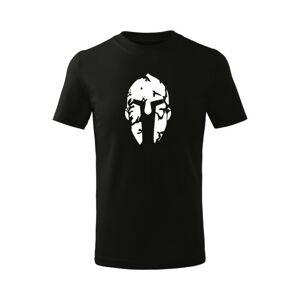 WARAGOD Dětské krátké tričko Spartan, černá - 10let/146cm
