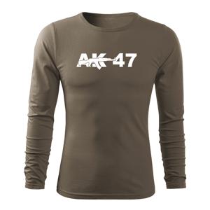 WARAGOD Fit-T tričko s dlouhým rukávem ak47, olivová 160g / m2 - XXL