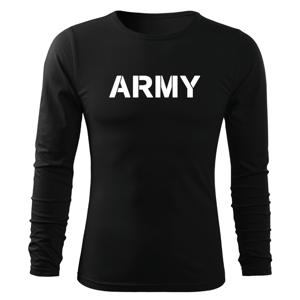 WARAGOD Fit-T tričko s dlouhým rukávem army, černá 160g / m2 - S