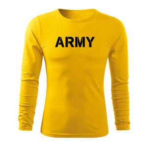 WARAGOD Fit-T tričko s dlouhým rukávem army, 160g / m2 - S