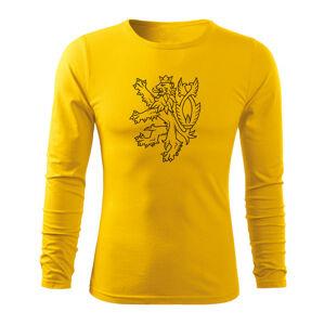 WARAGOD Fit-T tričko s dlouhým rukávem český lev, 160g / m2 - L