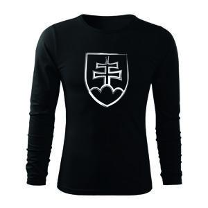 WARAGOD Fit-T tričko s dlouhým rukávem slovenský znak, černá 160g / m2 - 3XL