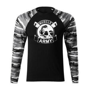 WARAGOD Fit-T tričko s dlouhým rukávem muscle army original, metro 160g / m2 - L