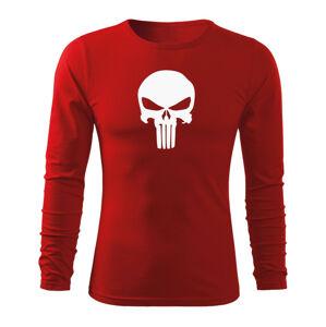 WARAGOD Fit-T tričko s dlouhým rukávem punisher, červená 160g / m2 - M