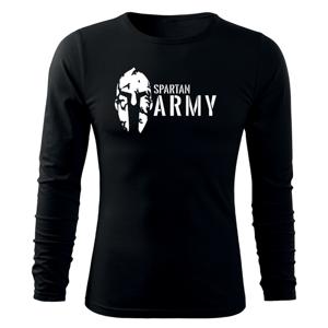 WARAGOD Fit-T tričko s dlouhým rukávem spartan army, černá 160g / m2 - S