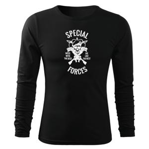 WARAGOD Fit-T tričko s dlouhým rukávem special force, černá 160g / m2 - L