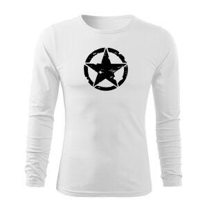 WARAGOD Fit-T tričko s dlouhým rukávem star, bílá 160g / m2 - L