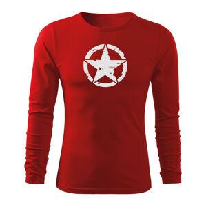 WARAGOD Fit-T tričko s dlouhým rukávem star, červená 160g / m2 - XL