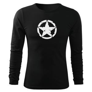 WARAGOD Fit-T tričko s dlouhým rukávem star, černá 160g / m2 - S
