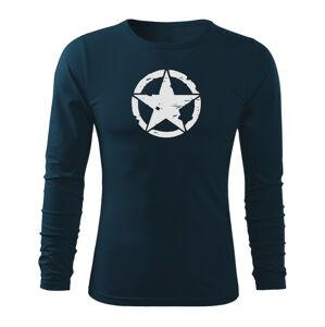 WARAGOD Fit-T tričko s dlouhým rukávem star, tmavě modrá 160g / m2 - S