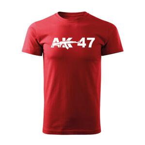 WARAGOD krátké tričko ak47, červená 160g/m2 - XS